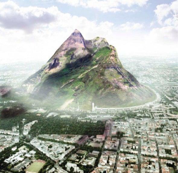 Arquitecto propone construir una montaña en Berlín