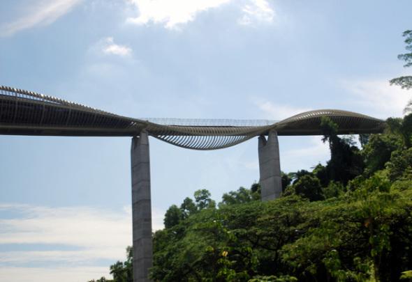 Henderson Wave Bridge, el puente peatonal en forma de serpiente más alto de Singapur