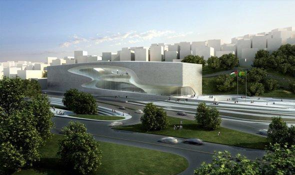 Arquitectura de alta tecnología con rasgos orgánicos: Casa de la Cultura y las Artes Rey Abdullah II, por Zaha Hadid