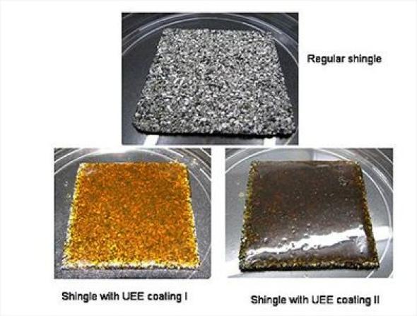 Tejas hechas con aceite comestible que generan calor o frío según la temperatura del ambiente