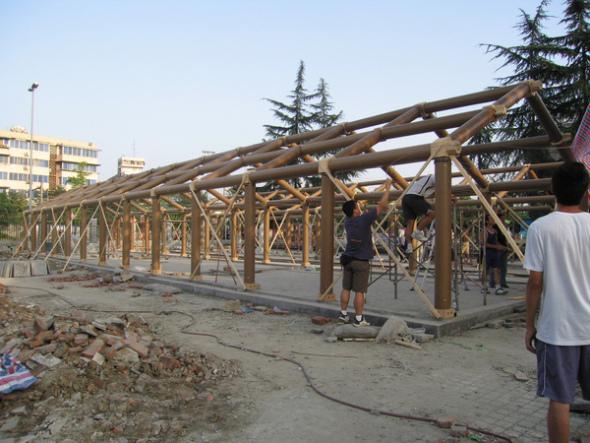 Arquitectura al instante: Escuela china construida con tubos de cartón
