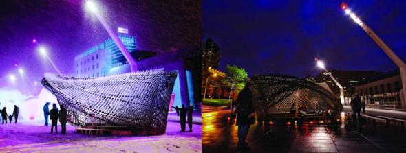 Diseño paramétrico: Un espectacular pabellón inspirado en la cinta de Mobius
