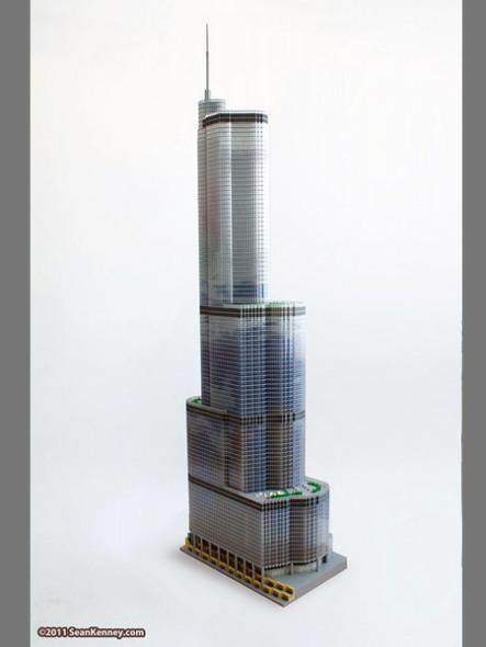 65,000 piezas de LEGO para una réplica de la Trump Tower de Chicago