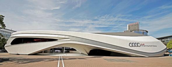 Espectacular Stand De Exhibici 243 N Para Audi En Frankfurt