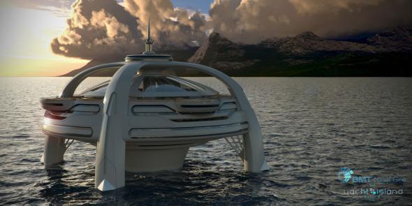 Un hotel para vacacionar flotando en el mar