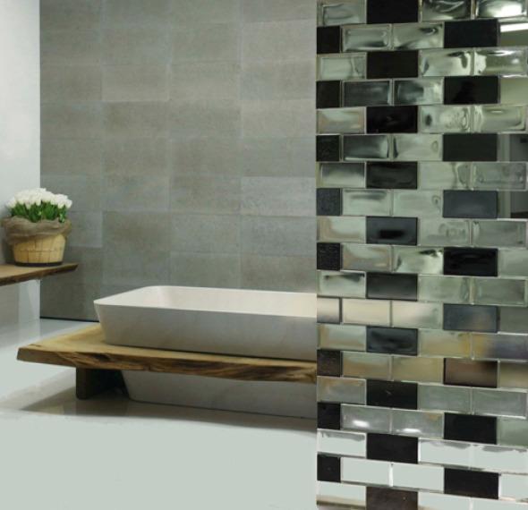 La belleza de la transparencia nuevo block de vidrio que permite separar y embellecer los - Banos con bloques de vidrio ...