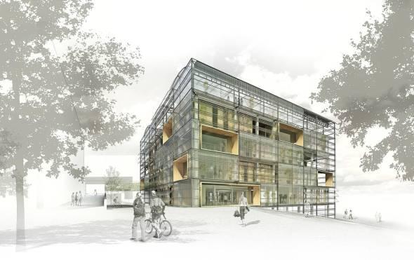 Fachadas vivas. Edificio ICTA-ICP de la UAB, Cerdanyola del Vallés