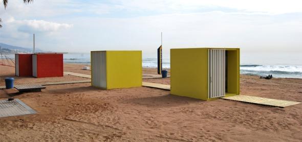 Módulos de servicio para la playa / Marius Quintana