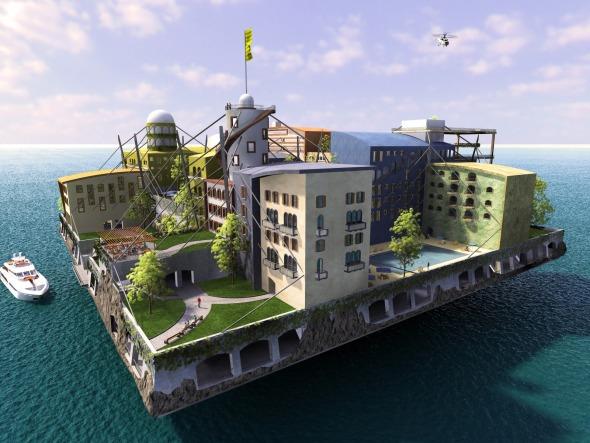 Swimming City, una ciudad flotante / Andras Gyorfi