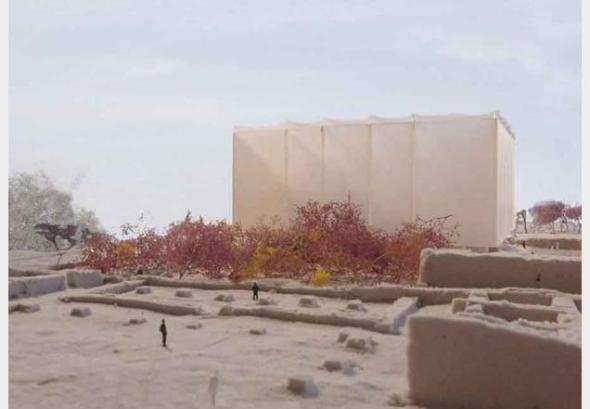 La Casa de los mosaicos: Un refugio para proteger el arte de una importante ciudad bíblica / Peter Zumthor