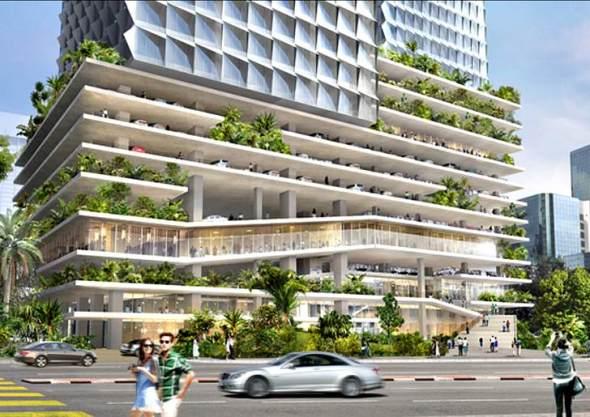 Jardín en el aire frente a las torres Petronas