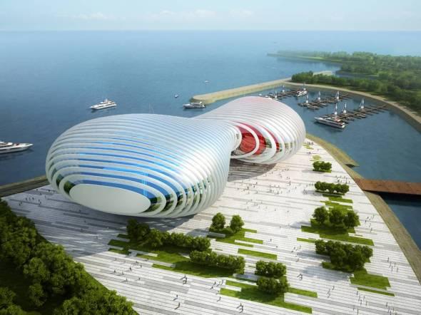 Propuesta Casa de Opera de Busan realizado por Peter Ruge Architekten