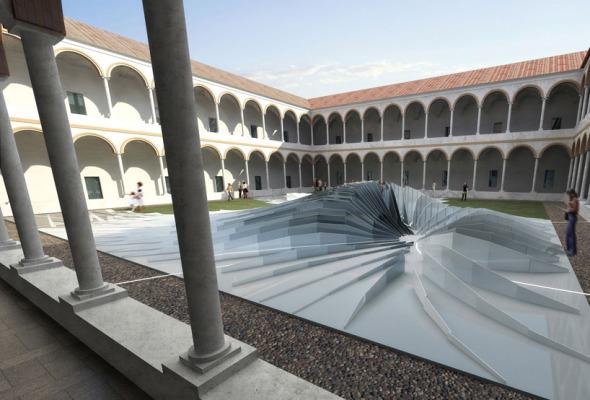 """""""Twirl"""" una instalación diseñada por Zaha Hadid"""
