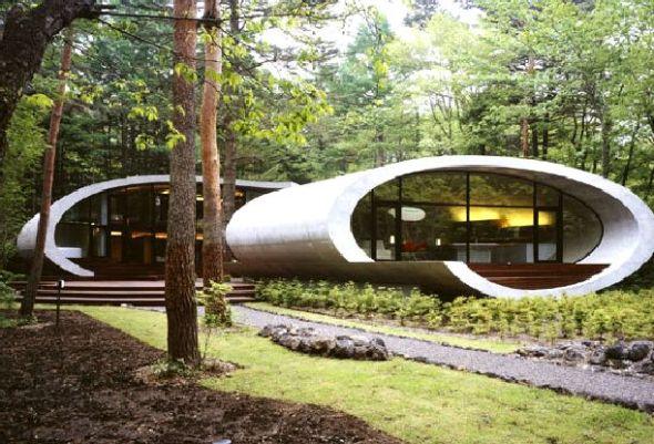 Casa para hobbits versión minimalista