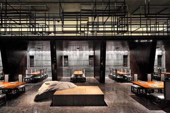 Haneda japanese restaurant realizado por Kris Lin Interior Design