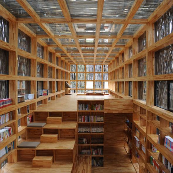 Librería Liyuan realizado por Li Xiaodong