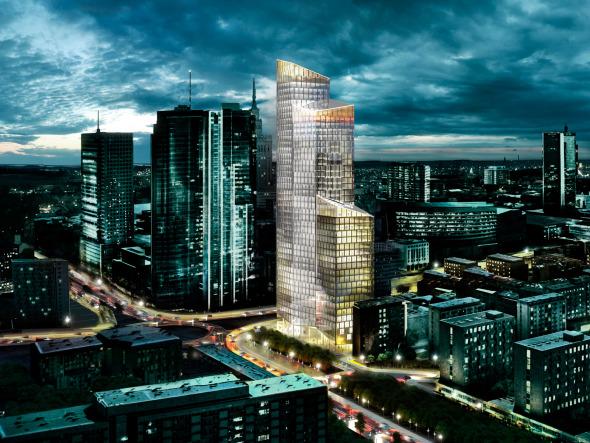 Torre de oficinas de 188 metros en Warsaw realizado por Schmidt Hammer Lassen