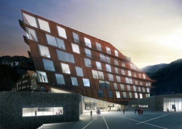 Resort Hotel realizado por Holzer Kobler Architekturen