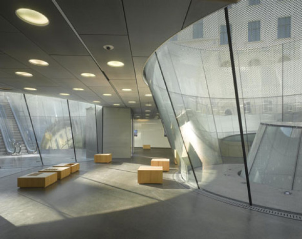 Discreta Y Elegante Ampliaci 243 N Del Museo Joanneum De Graz