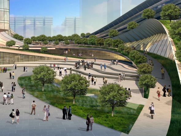 Nueva Terminal de trenes West Kowloon / Aedas Arquitectos