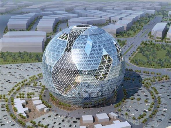 Technosphere: 800,000 metros cuadrados en una esfera / James Law Cybertecture