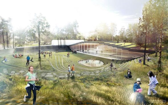 Pista de Hockey en Umea. Bjarke Ingels Group (BIG)