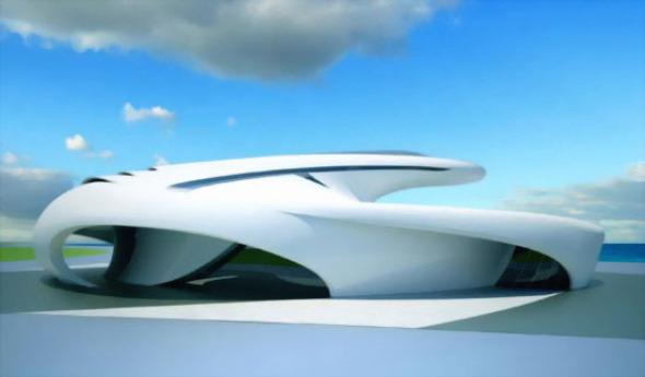 Jet House, una lujosa vivienda aerodinámica