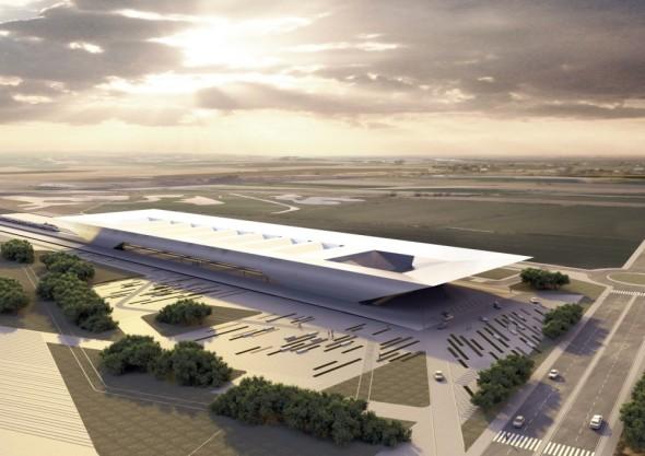 Estación de tren de alta velocidad Puerta Umbría / Rafael de La-Hoz Arquitectos