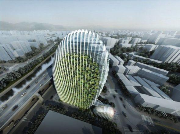 Torre de oficinas Nangang en Taipei / Aedas Beijing Ltd