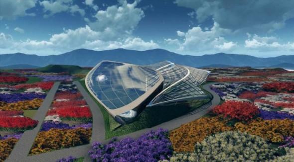 Conservatorio de la Expo de Horticultura 2014 en Qingdao China / HKS