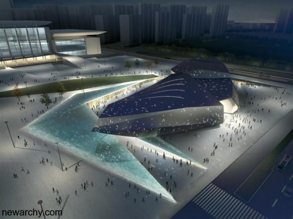 Un enorme espacio para la ciencia y la tecnología: Centro Cultural de Jinan. RTA-Office