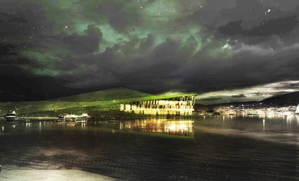 Un hotel que se funde con el paisaje. Francois Zab y Moinsmoinsplus