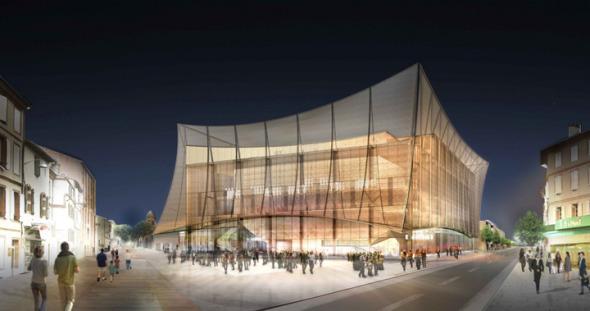 Ligerísimo y sutil. El gran teatro de Albi. Dominique Perrault Architecture