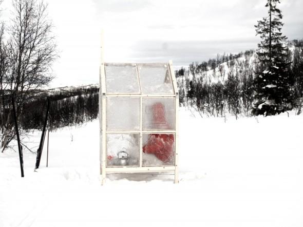 Arquitectura portátil hecha de hielo. Gartnerfuglen