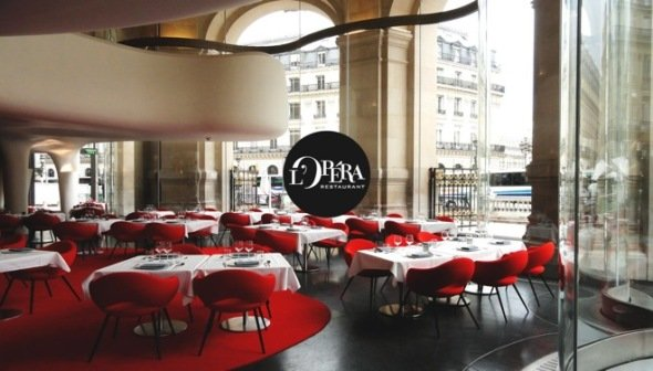 Restaurante de la Ópera de París. Odile Decq