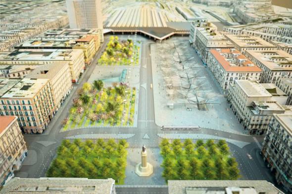 Piazza Garibaldi realizado por Dominique Perrault Architecture