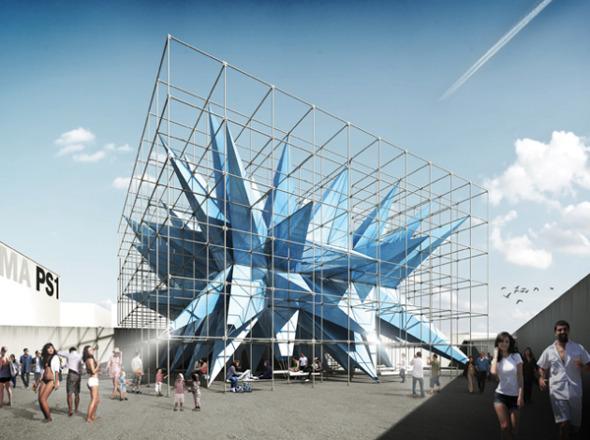 Wendy, una estructura que neutraliza los contaminantes del aire / HWKN