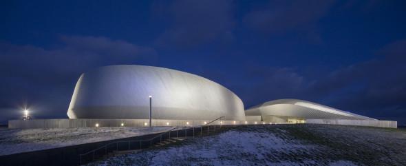 Edificio que simula el hábitat bajo el mar