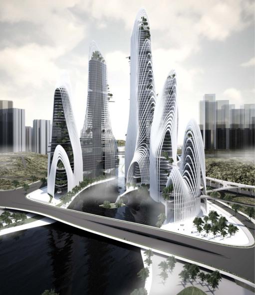 La nueva ciudad china de montañas y agua
