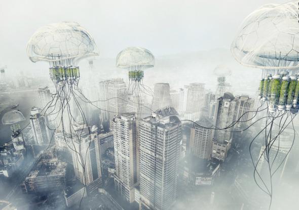 Medusas flotantes para combatir la contaminación
