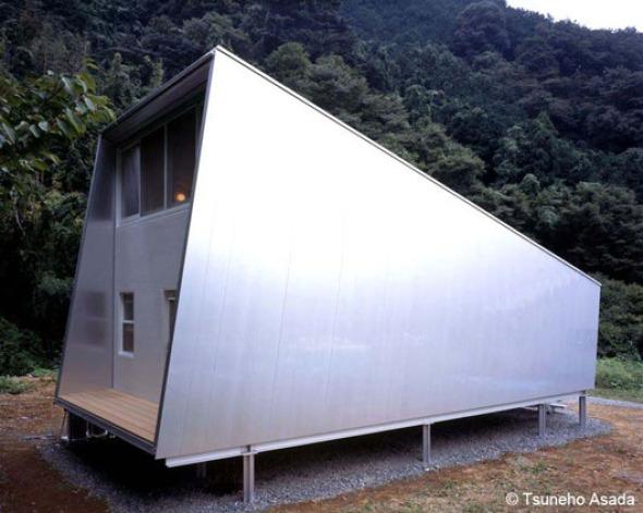 Una combinación de materiales perfecta. Casa de Aluminio de Toyo Ito