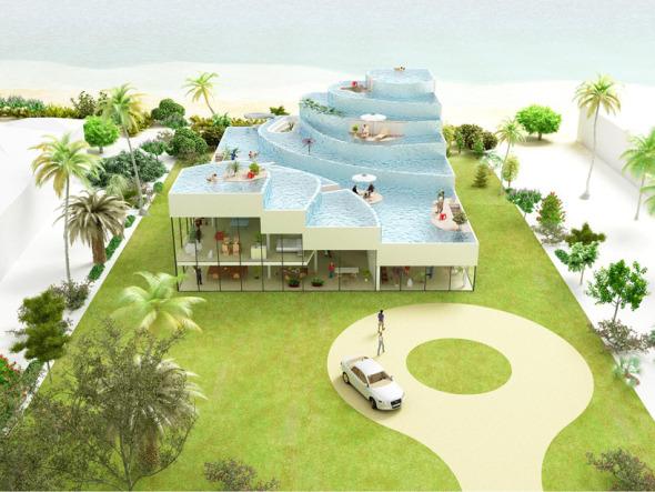 Propuestas para La casa con piscina en el techo. NL Architects