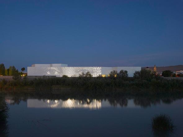 Terminada la fachada de luz LED en Córdoba