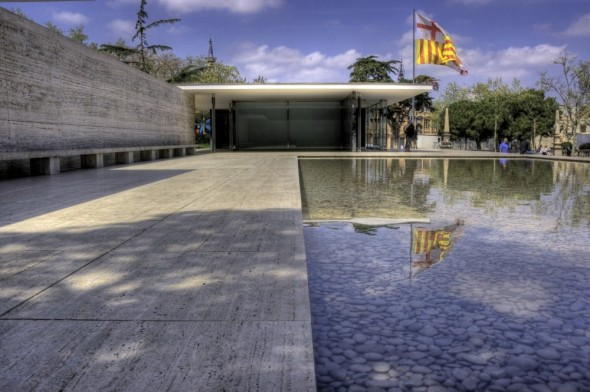 La obra temporal de Mies van der Rohe