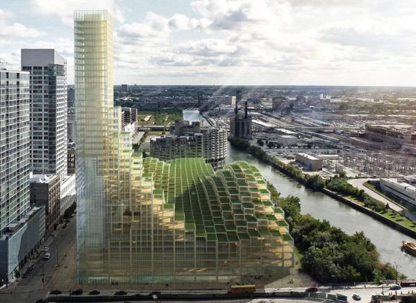 Rascacielos de madera. Michael Charters