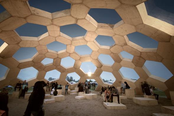 Empujando al límite los materiales para crear un domo