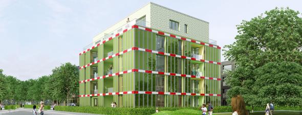 Edificio que ahorra energía con algas