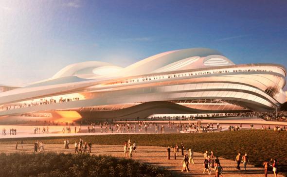 Zaha Hadid con un diseño dinámico y futurista para los Juegos Olímpicos