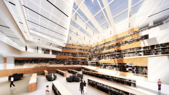 Biblioteca dise ada con programa para hacer aviones for Programa arquitectonico biblioteca