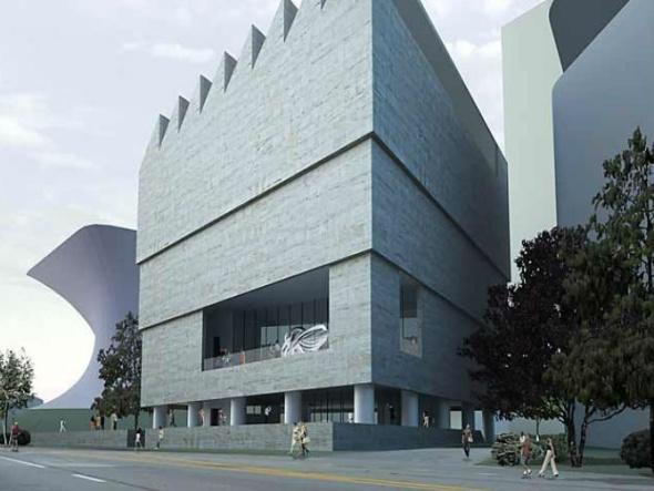 Teatro Cervantes y Museo Fundación Colección Jumex por ser terminado